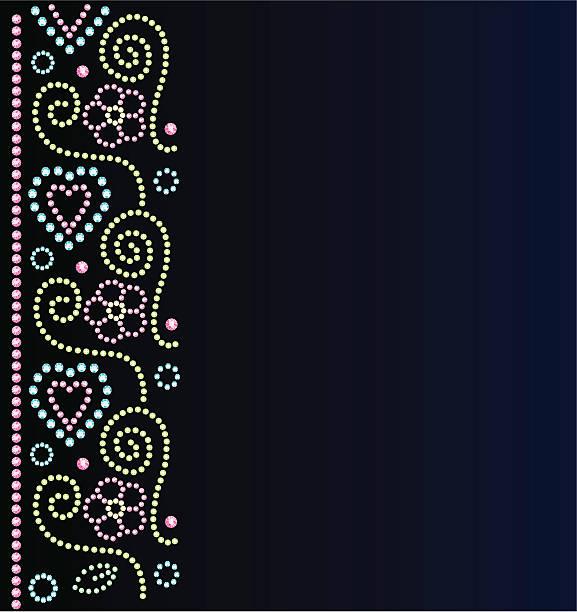 teen mode diamant-design grenze - modeschmuck stock-grafiken, -clipart, -cartoons und -symbole