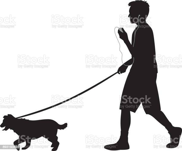 Teen walking dog with headphones silhouette vector id893193894?b=1&k=6&m=893193894&s=612x612&h=7bwssikc0gmjfmpodwsmiu8afhfco 7md6kequ ibvs=
