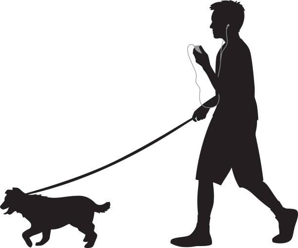 Best Boy Walking Dog Illustrations, Royalty-Free Vector ...