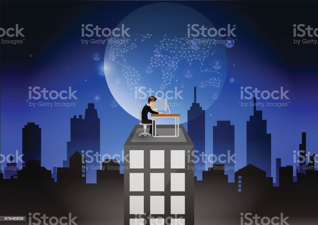 Teenage boy sitting on the building roof while using a laptop to check money or information royalty-free teenage boy sitting on the building roof while using a laptop to check money or information stock vector art & more images of adult