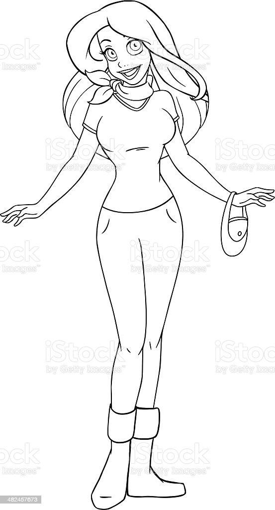Ilustración de Adolescente En Una Camiseta Y Pantalones Para ...
