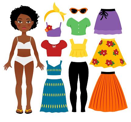 Teenage girl's summer clothing