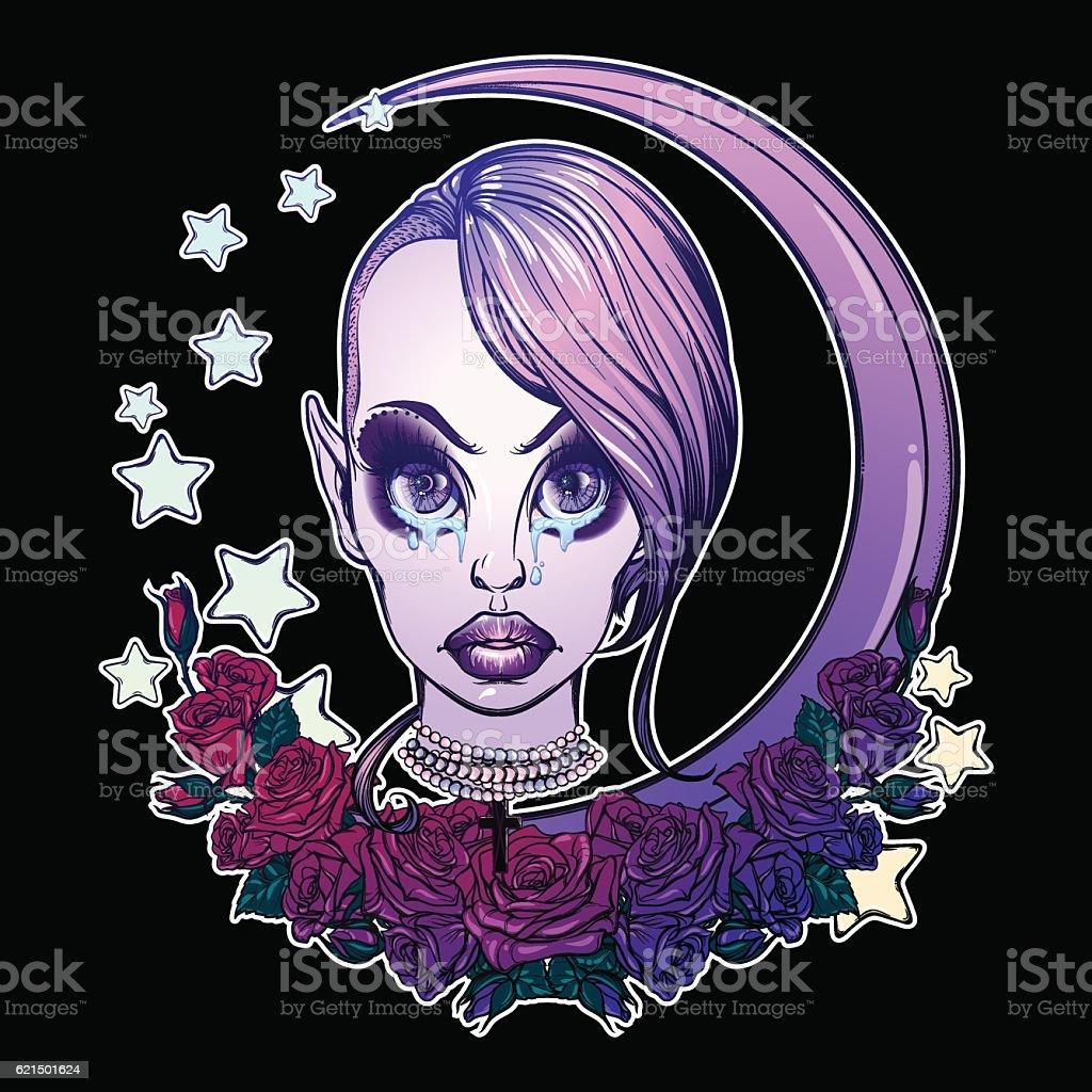 Teenage Pastel Goth Girl teenage pastel goth girl - immagini vettoriali stock e altre immagini di adolescenza royalty-free