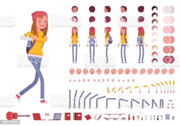 Teenager girl character creation set vector id692794632?b=1&k=6&m=692794632&s=612x612&h=8rkjjmt2lirzk o rrl5b86g9pztechdn9i0uiua8au=