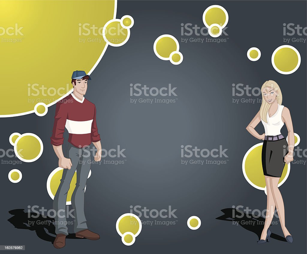 teenager students. royalty-free stock vector art