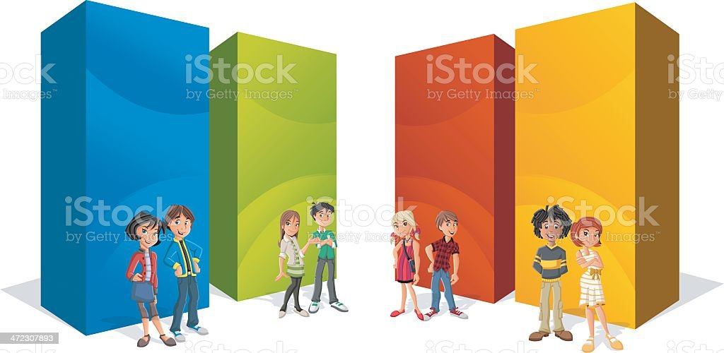 Teenager students royalty-free teenager students stock vector art & more images of adult