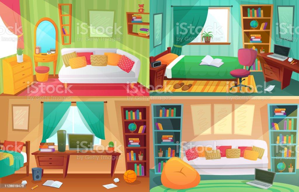 Chambre Dadolescents Student Encombré Chambre Appartement De