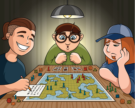 Teenagers with a Role Playing Game