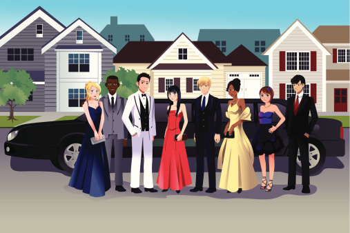 Prom stock illustrations