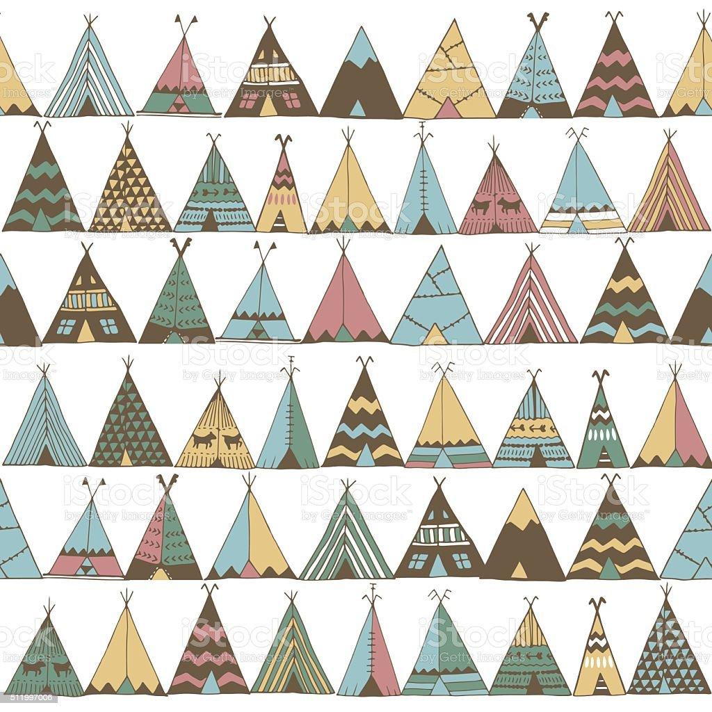 teepee pattern wigwam native american summer tent