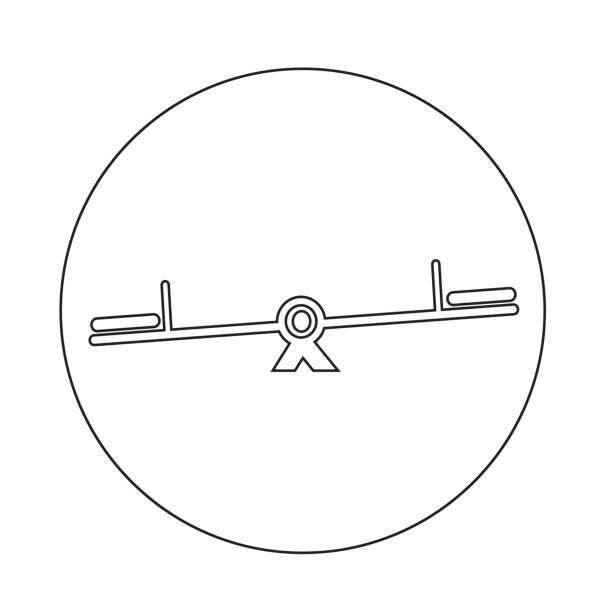teeter-symbol - barnet stock-grafiken, -clipart, -cartoons und -symbole