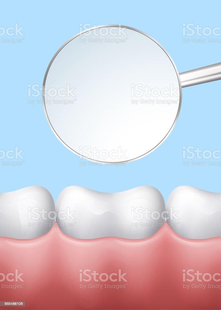 Zähne Und Zahnarztspiegel Stock Vektor Art und mehr Bilder von ...