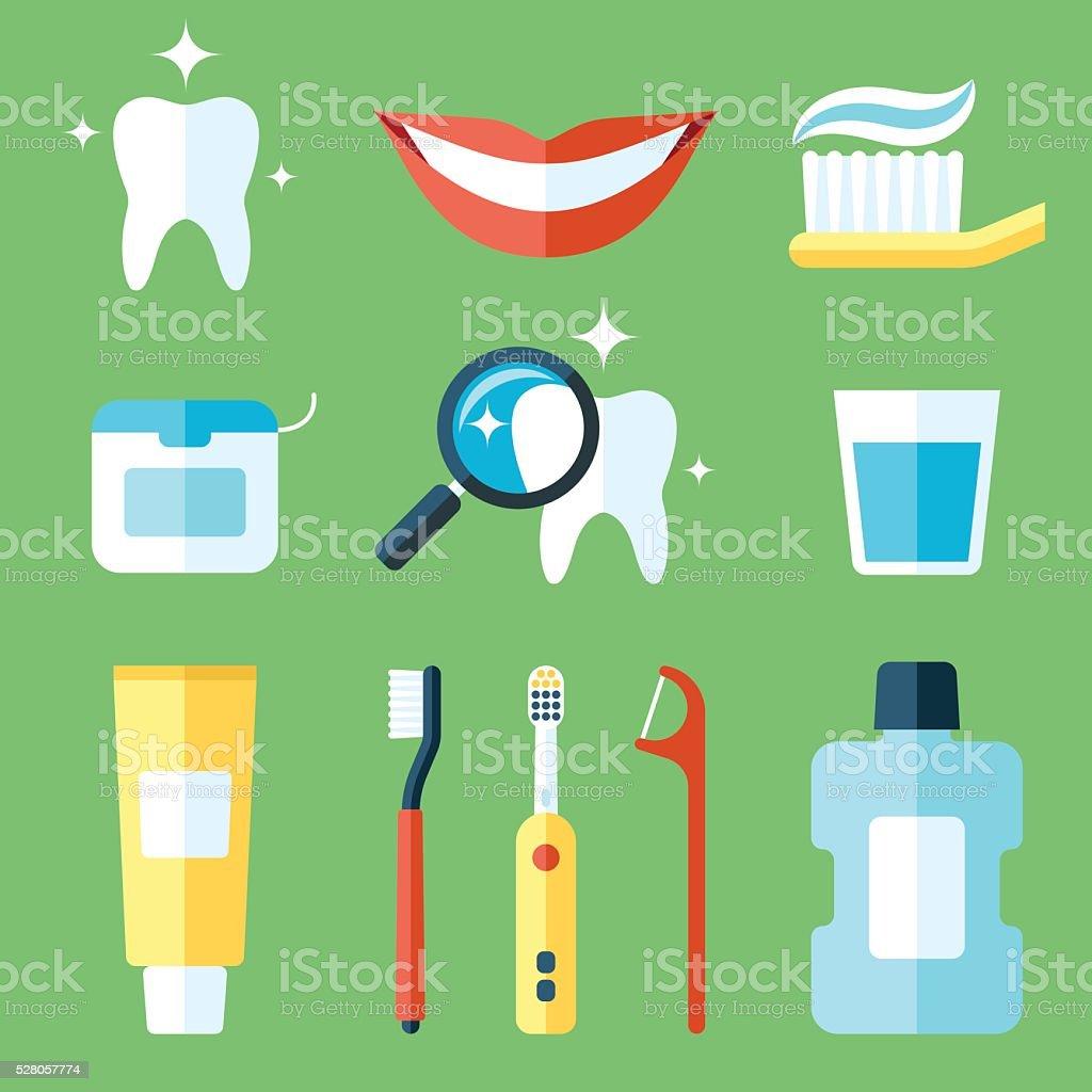 Teeth care vector art illustration