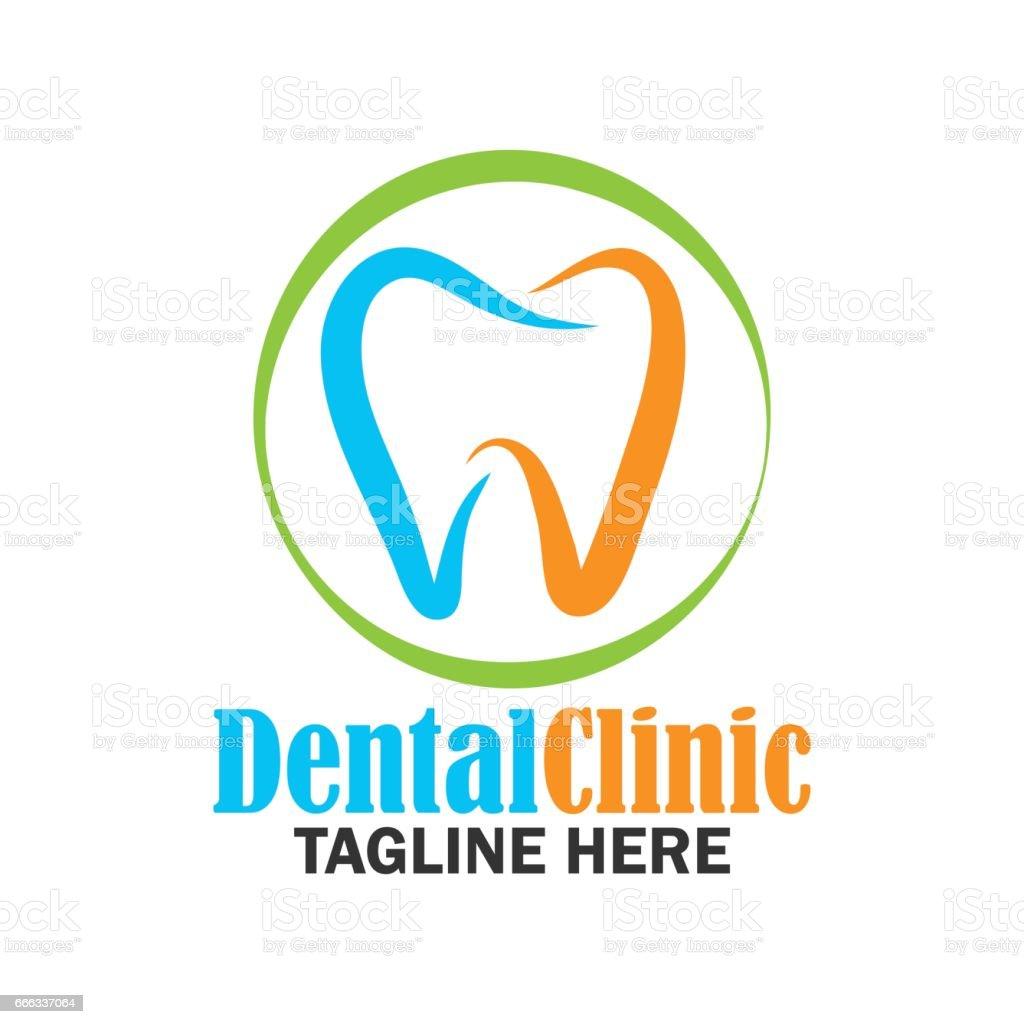 dientes para la odontología / estomatólogo dentales icono de clínica. Ilustración de vector plano - ilustración de arte vectorial