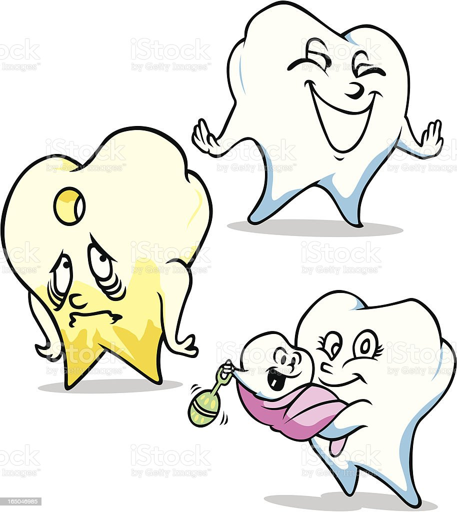 Teeth, Happy, Sad and New royalty-free stock vector art