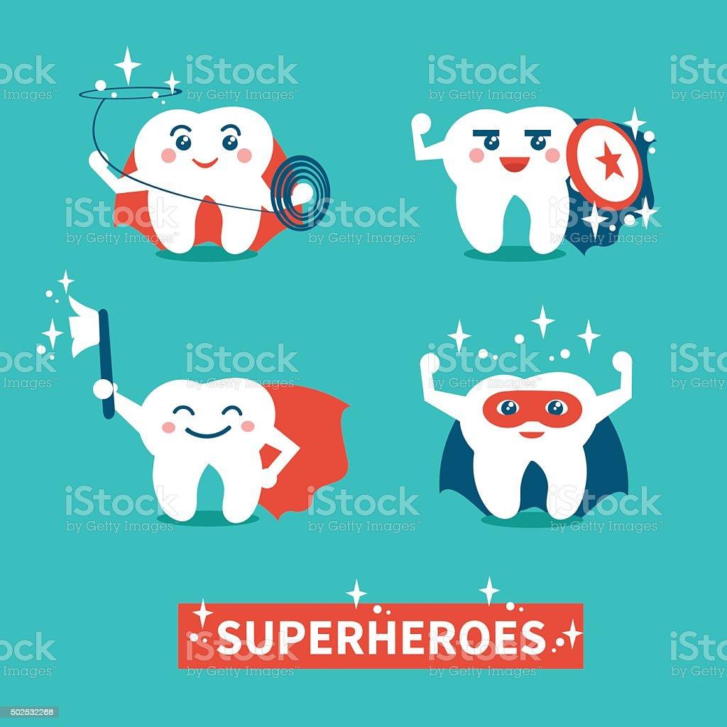 Teeth hygiene vector art illustration