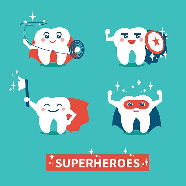 ilustrações de stock, clip art, desenhos animados e ícones de dentes de higiene - super baby