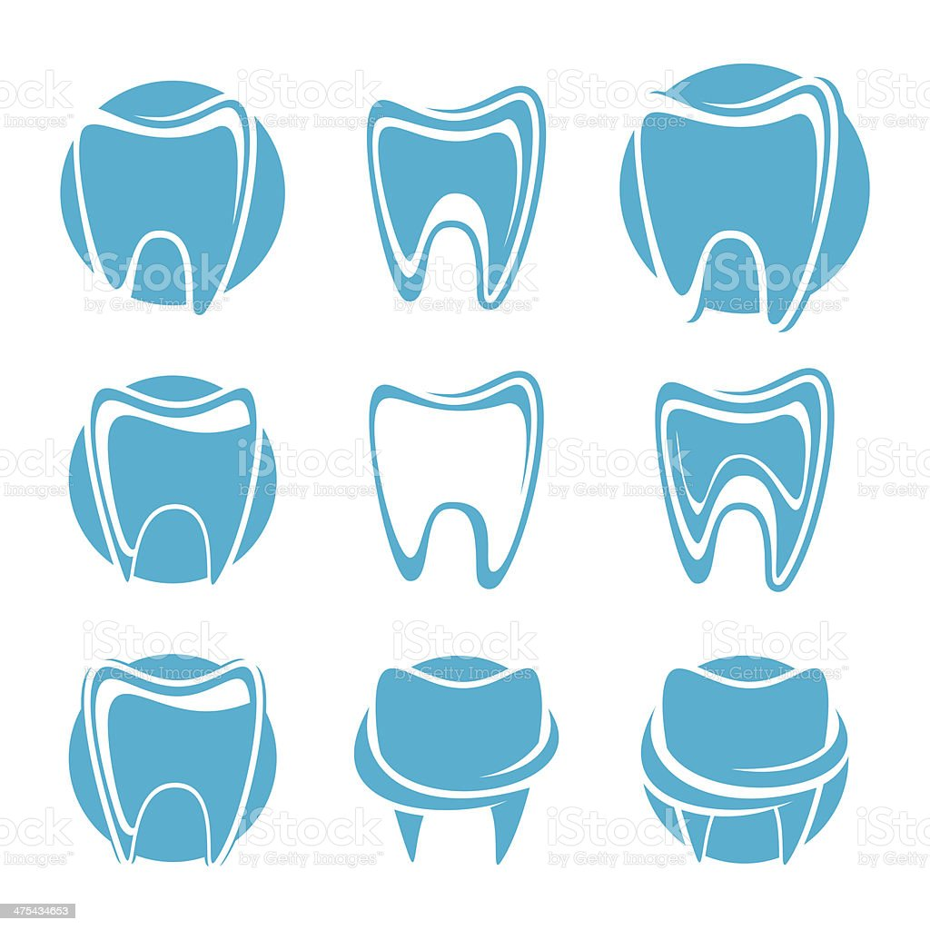 Teeth icon set royalty-free stock vector art