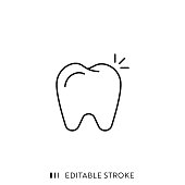 istock Teeth Icon with Editable Stroke and Pixel Perfect. 1181011065