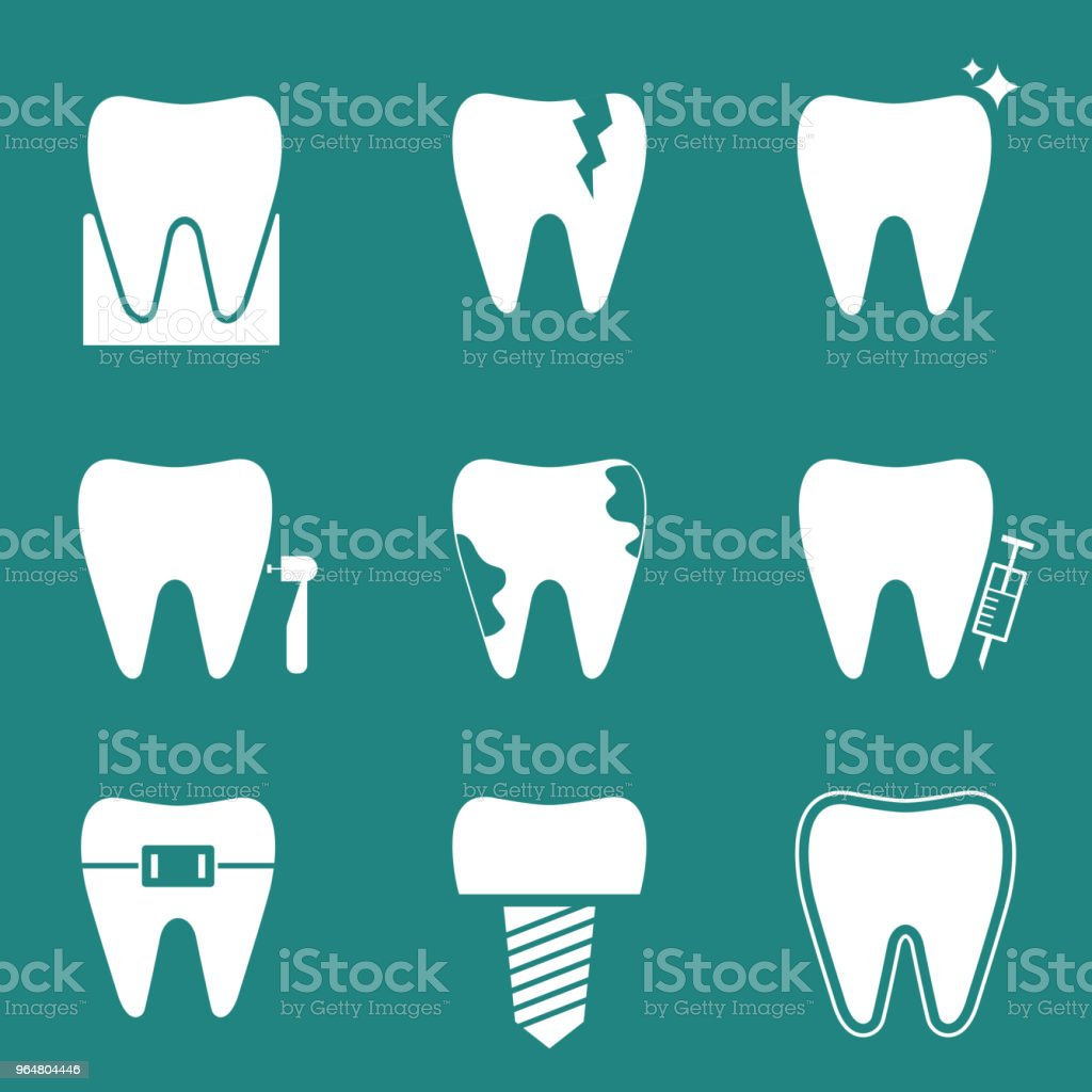 Teeth icons collection royalty-free teeth icons collection stock illustration - download image now