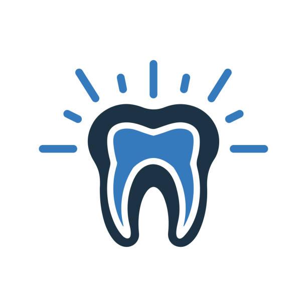 stockillustraties, clipart, cartoons en iconen met het pictogram van de tandpijn, tandprobleem - streptococcus mutans
