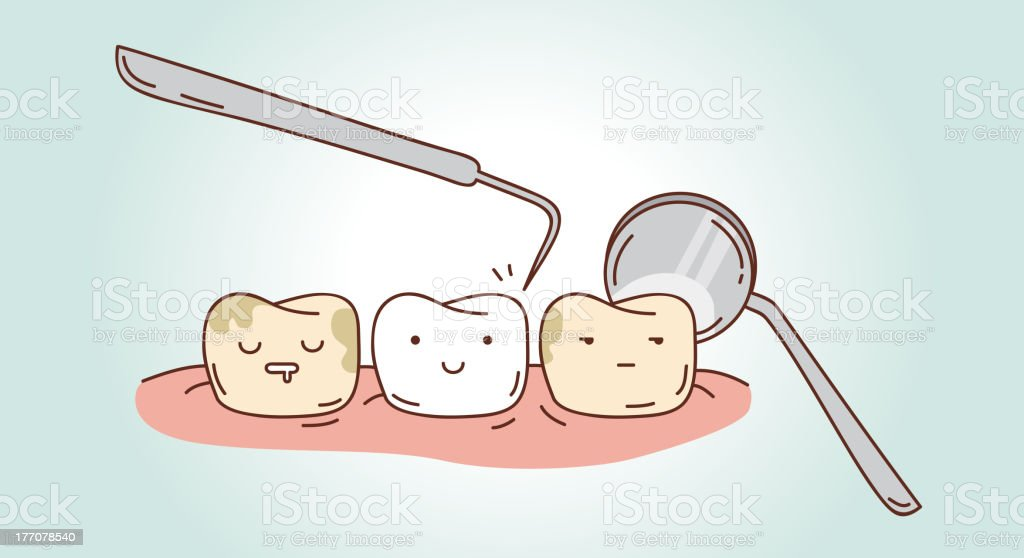Teeth treatment royalty-free stock vector art