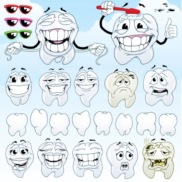 teeth - toothy smile stock illustrations