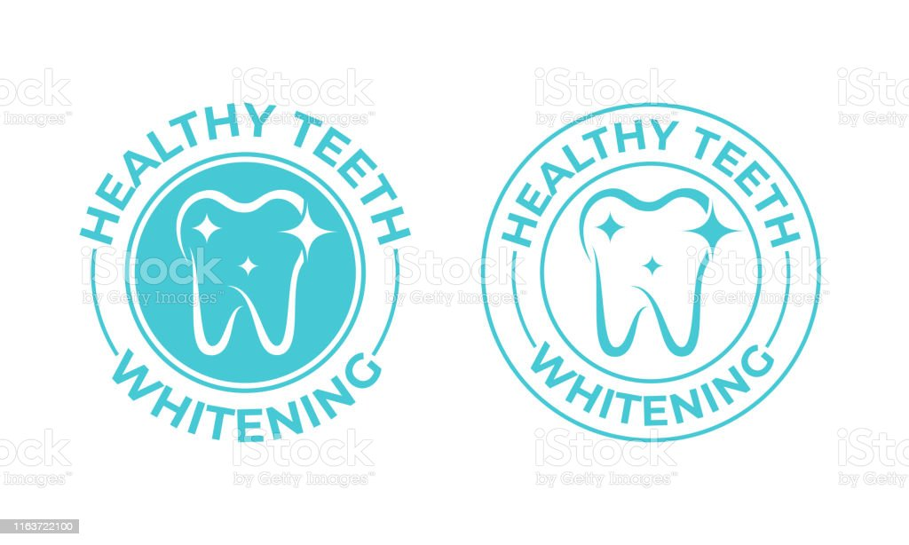 Teeth Whitening Tooth Vector Icon Healthy Safe Tooth Whitening Logo Toothpaste And Dental Mouthwash Package Stamp Label Stock Illustration Download Image Now Istock