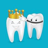 teeth with crown