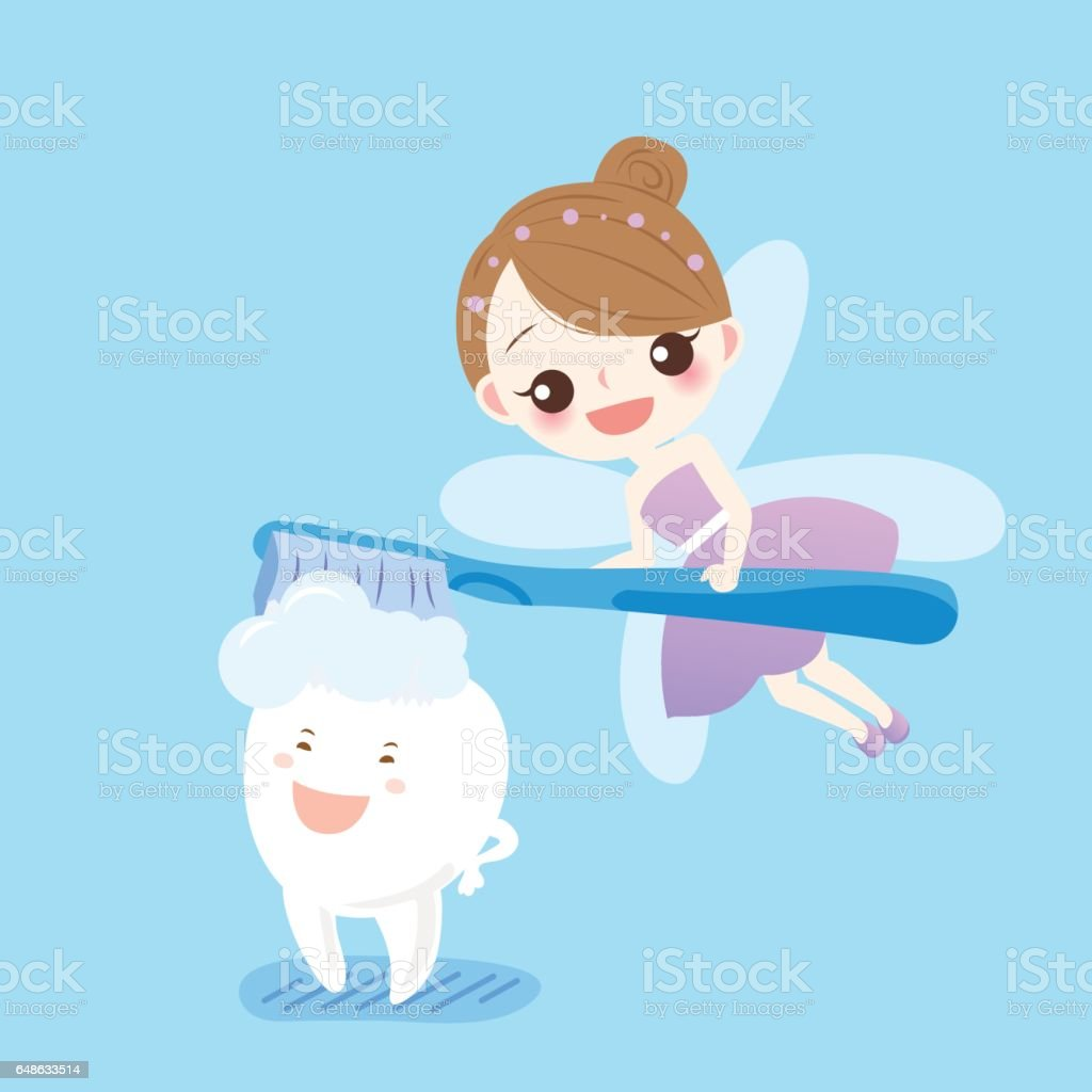 Teeth With Tooth Fairy Stock Illustration Download Image Now Istock