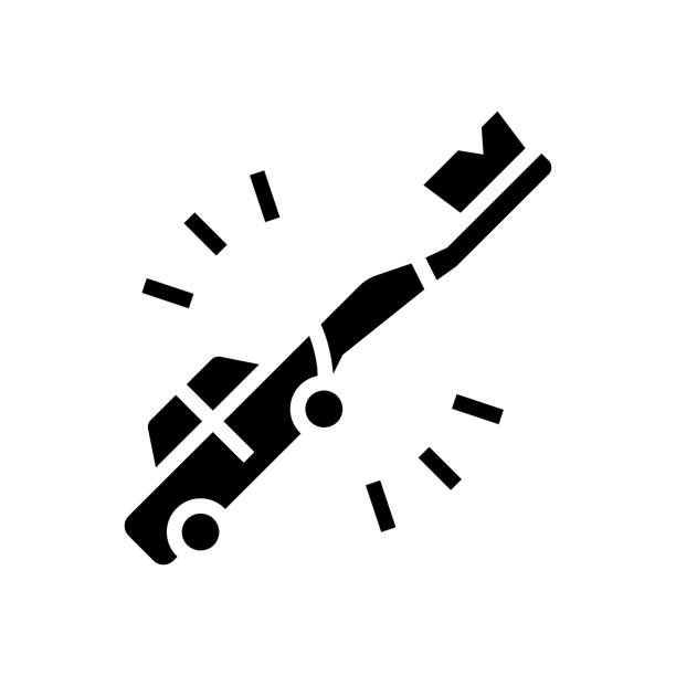 teethbrush car shape glyph icon vector illustration teethbrush car shape glyph icon vector. teethbrush car shape sign. isolated contour symbol black illustration streptococcus mutans stock illustrations