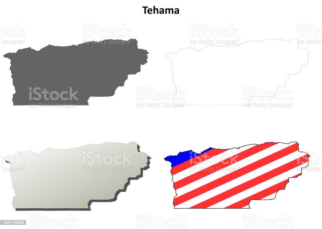California County Map Vector
