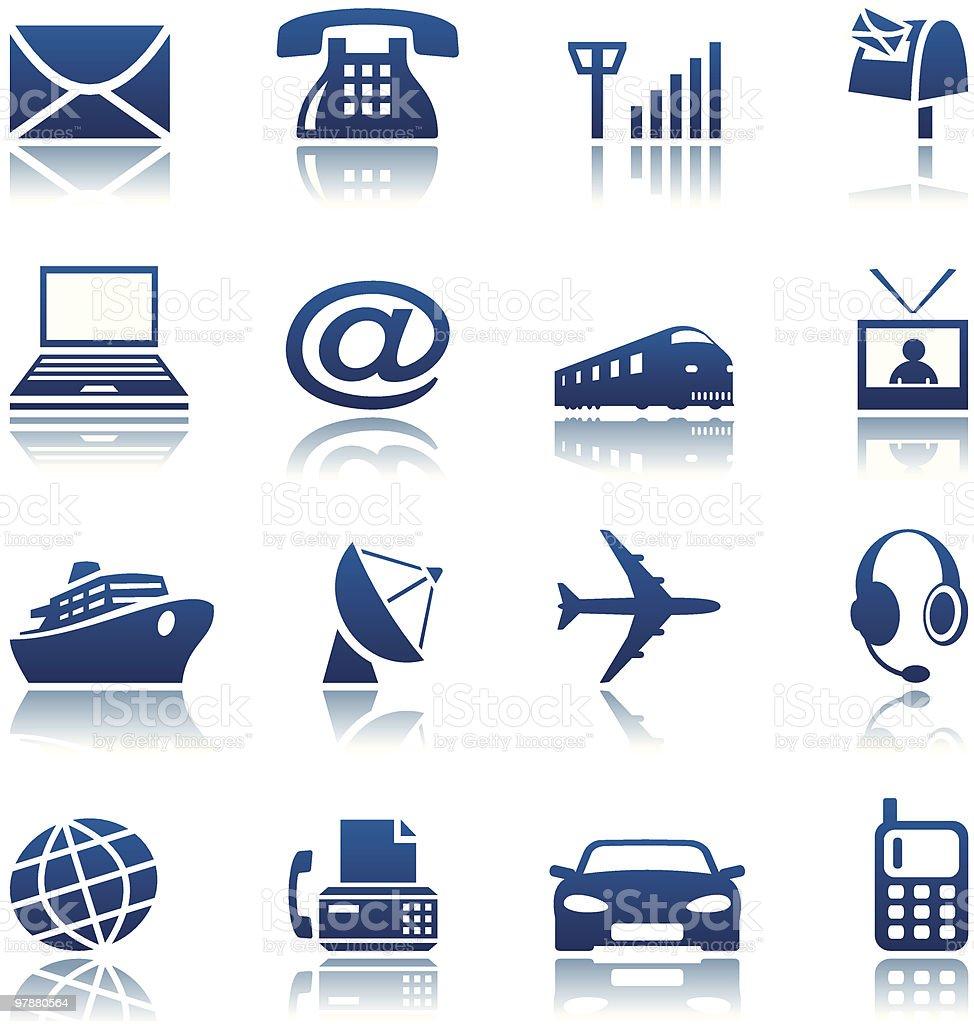 Telecom & transportation icon set royalty-free stock vector art