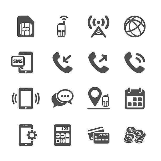 telecommunication account management-icon-set, vektor-eps10 - turm bauwerk stock-grafiken, -clipart, -cartoons und -symbole