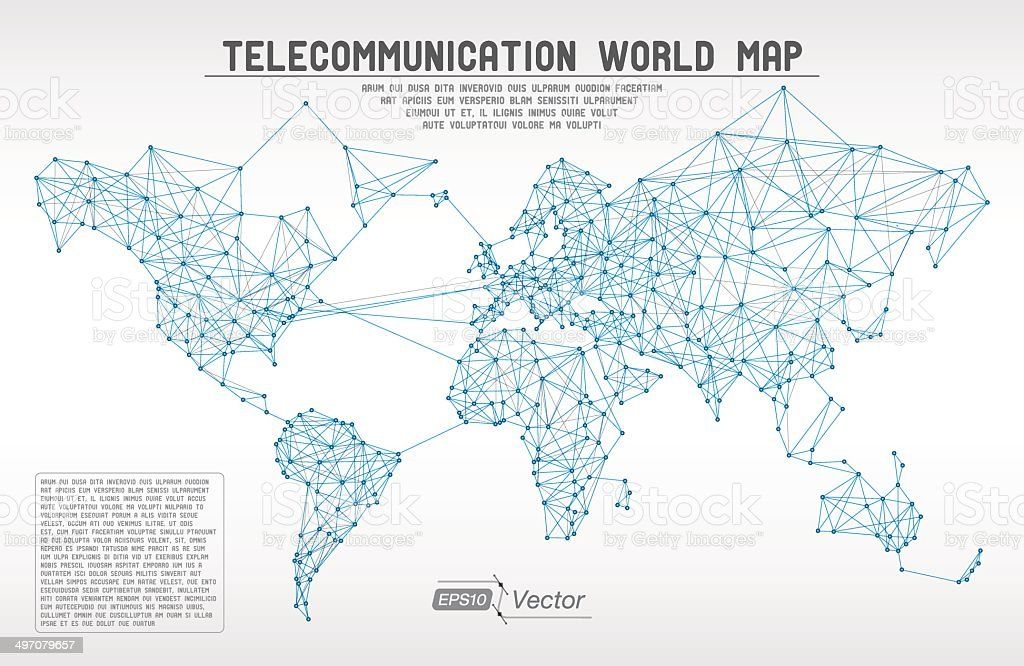Telecommunication map concept stock vector art more images of telecommunication map concept royalty free telecommunication map concept stock vector art amp more images gumiabroncs Image collections