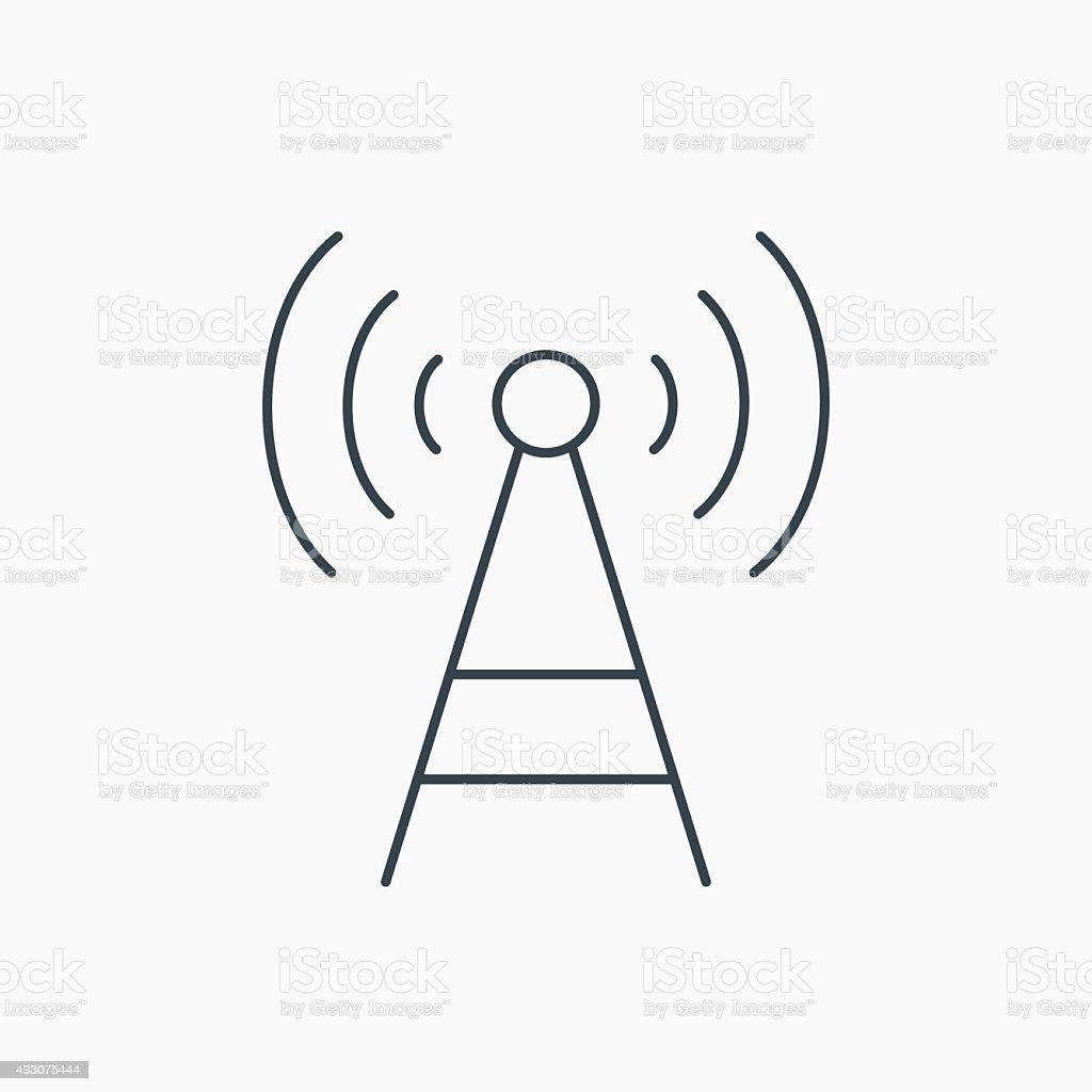 Telecommunication Turmsymbol Signal Schild Stock Vektor Art und mehr ...