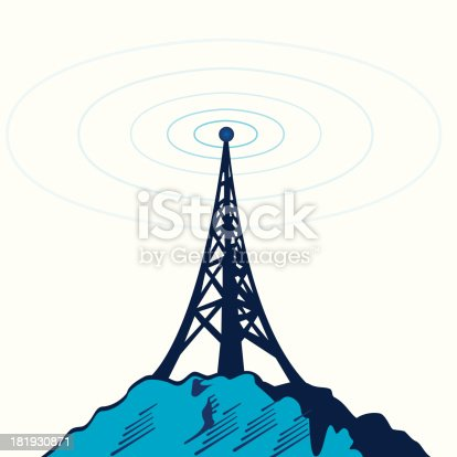 tower spread signal background vector
