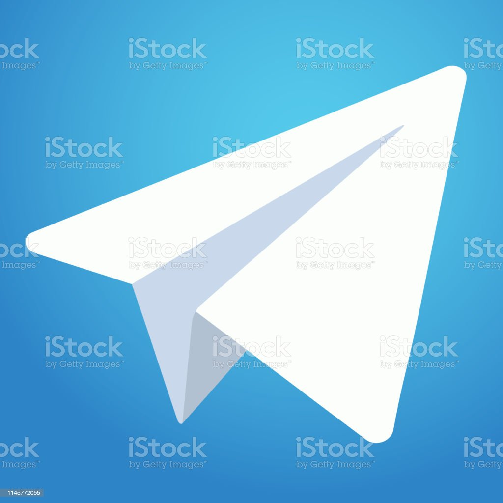 Telegram Messenger Icon Weisses Papierflugzeug Auf Blauem Hintergrund Vector Illustration Eps 10 Stock Vektor Art Und Mehr Bilder Von Abstrakt Istock