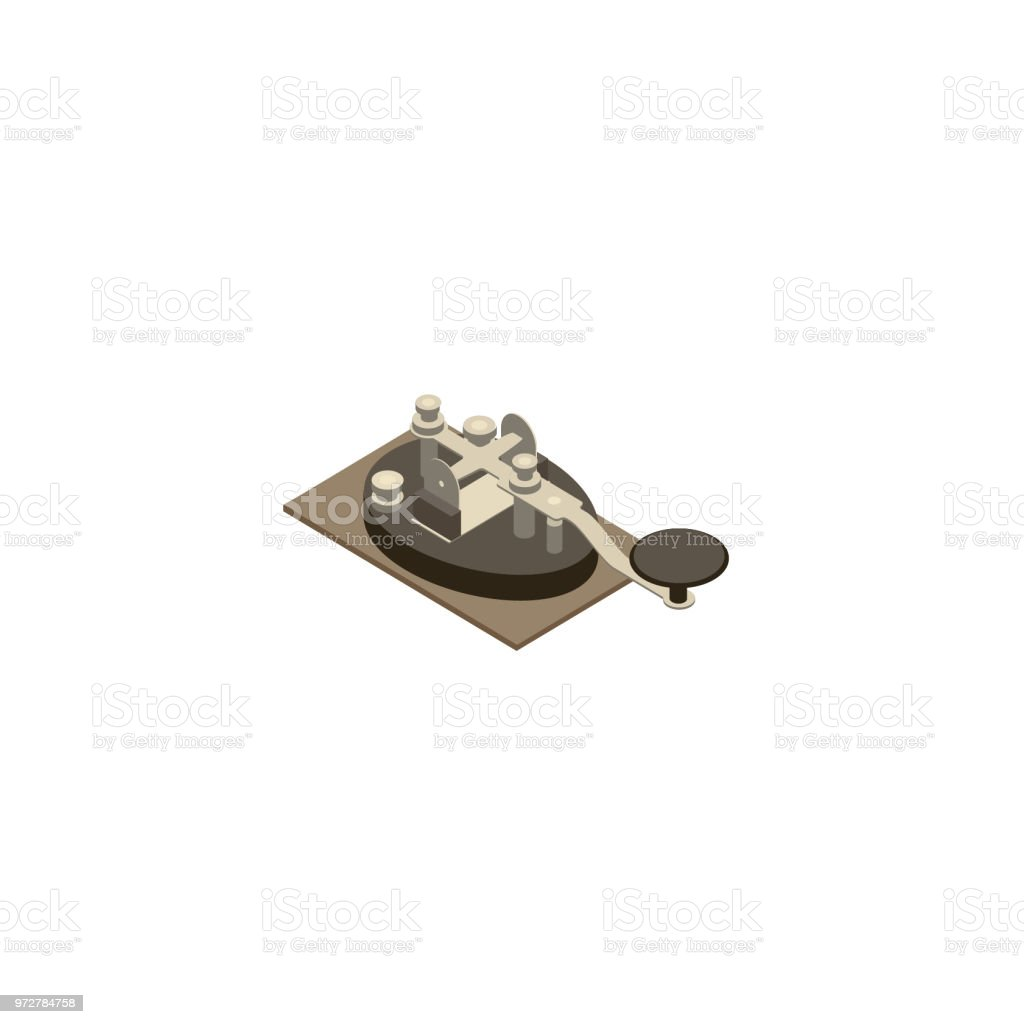 Telegraph Key Illustration vector art illustration