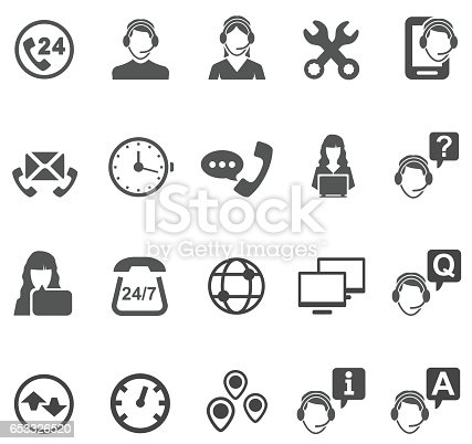 Telemarketer icons , vector illustration