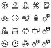 istock Telemarketer icons 653326520