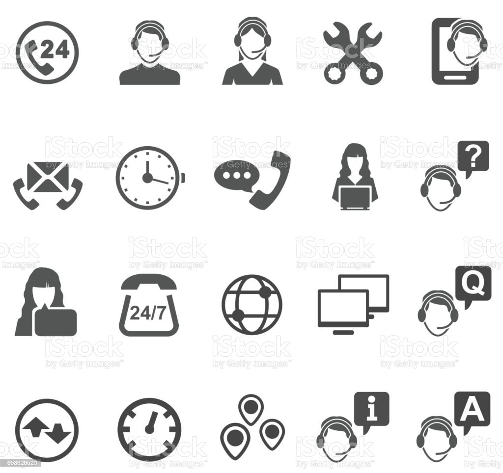 Telemarketer icons vector art illustration