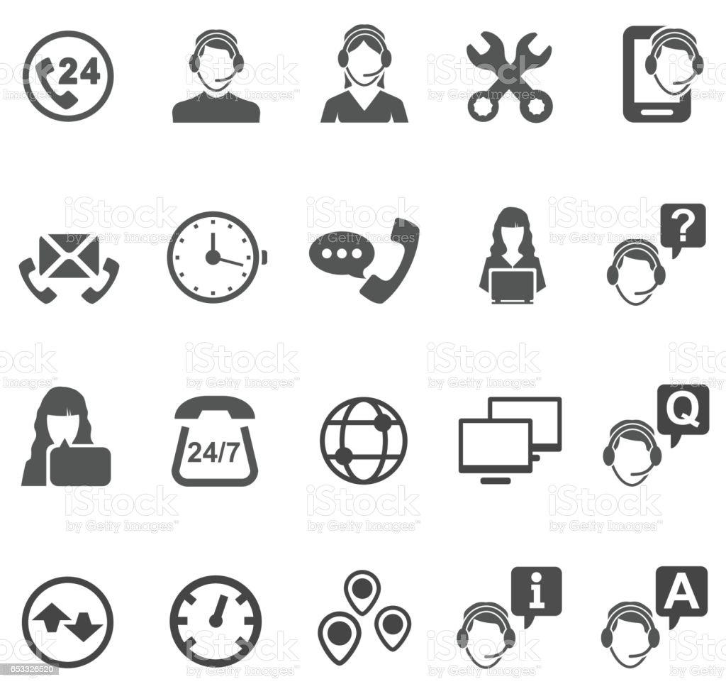 Iconos de Telemarketer - ilustración de arte vectorial
