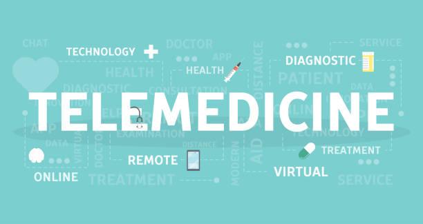 telemedicine concept illustration - telemedicine stock illustrations