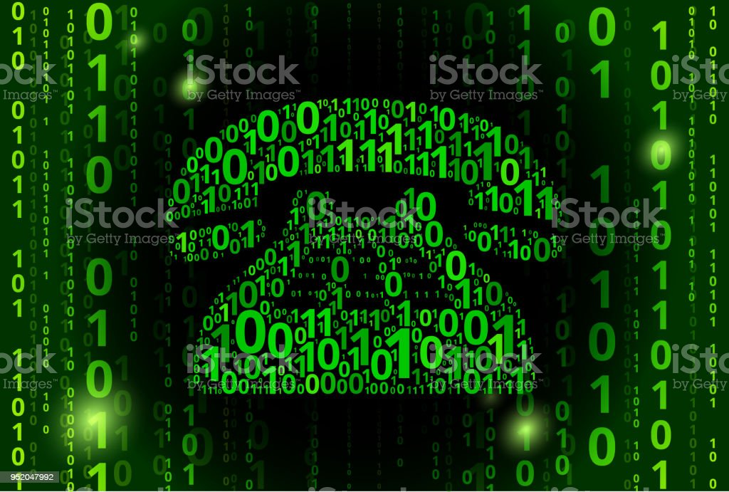 Telephone Binary Code Vector Pattern Background Royalty Free Stock