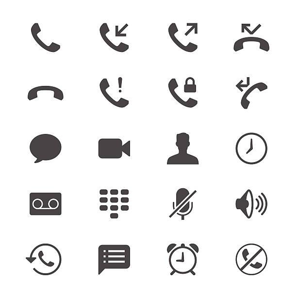 Telefon flache Symbole – Vektorgrafik