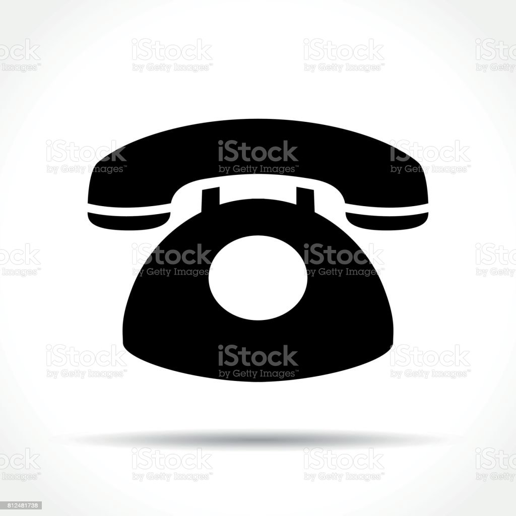 telephone icon on white background vector art illustration