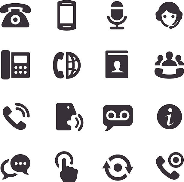 De Acme serie iconos de teléfono - ilustración de arte vectorial