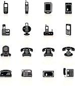 Telephone Icons - Black Series