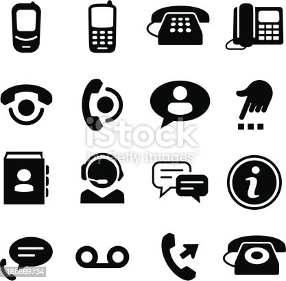 Phone and call center icons. Vector icons for video, mobile apps, Web sites and print projects. See more in this series.